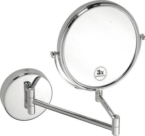 KOUPELNOVÉ DOPLŇKY - BEMETA Kosmetické zrcátko O190 mm oboustranné, 3x 112201512