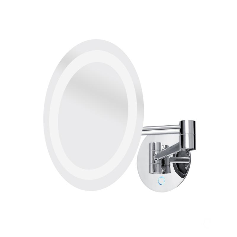 KOUPELNOVÉ DOPLŇKY - Nimco Série 20100 ZK 20165-26 Kosmetické podsvícené LED zrcátko Chrom