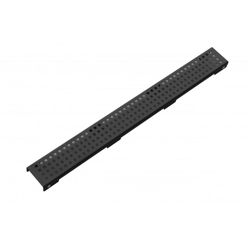 PODLAHOVÉ ŽLABY A ROŠTY - Rošt černý pro žlab FLAT černý vzor M08 1000mm 1725100