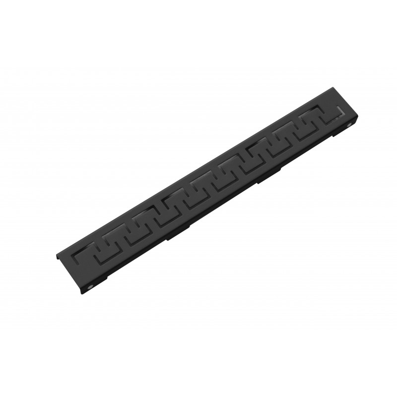 PODLAHOVÉ ŽLABY A ROŠTY - Rošt černý pro žlab FLAT černý vzor M15 1000mm