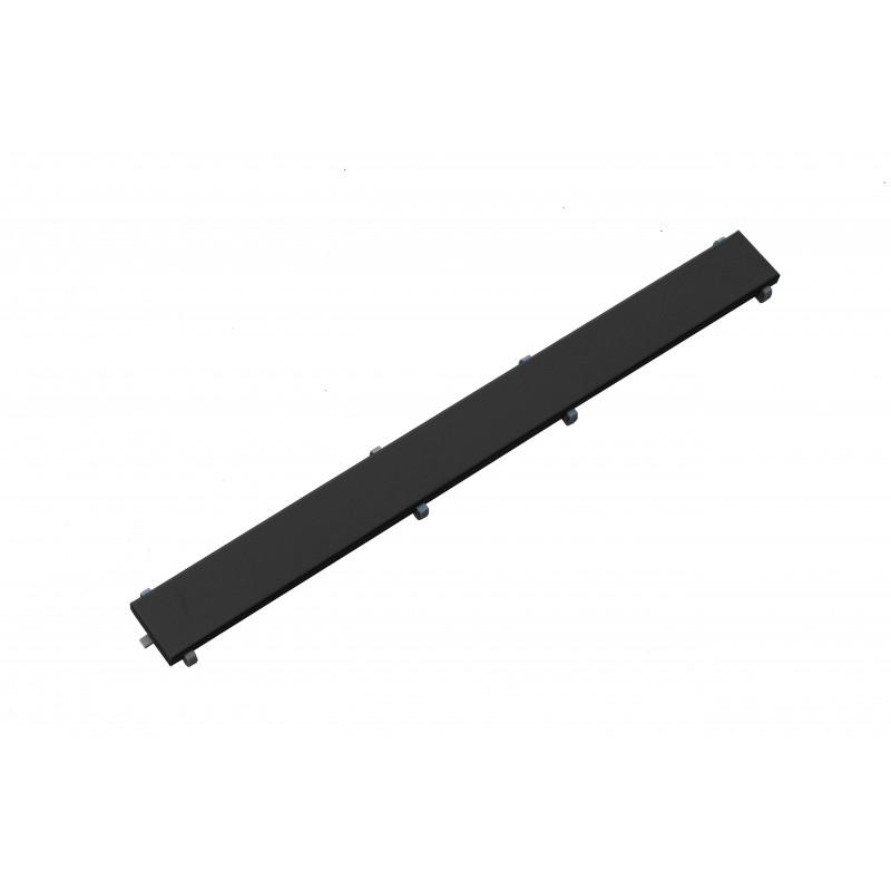 PODLAHOVÉ ŽLABY A ROŠTY - Rošt černý pro žlab FLAT černý vzor M13 1000mm