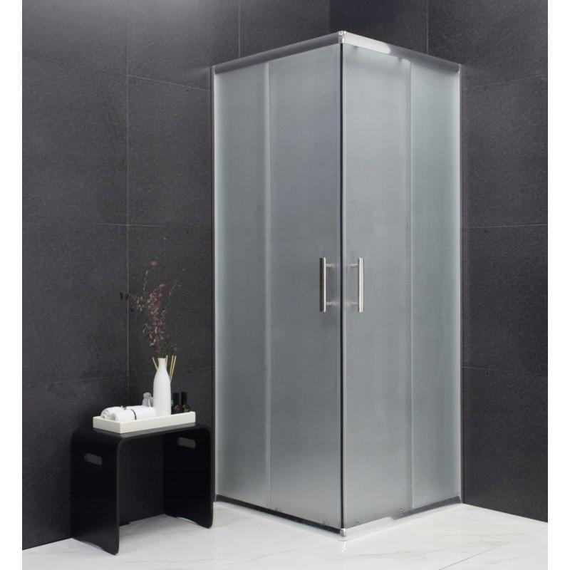 SPRCHOVÉ KOUTY - MEXEN RIO sprchový kout čtverec 90x90x190 cm 5mm chrom-satén 860-090-090-01-30