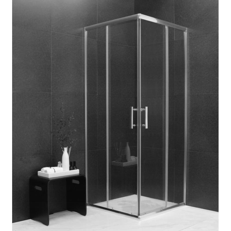 SPRCHOVÉ KOUTY - MEXEN RIO sprchový kout čtverec 70x70x190 cm 5mm chrom-čiré 860-070-070-01-00