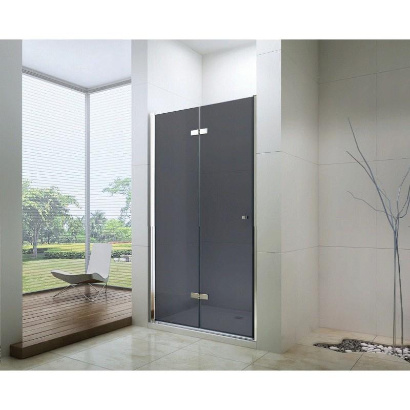 SPRCHOVÉ KOUTY - MEXEN LIMA sprchové dveře zalamovací 90x190 cm 6mm, chrom-kouřové 856-090-000-01-40