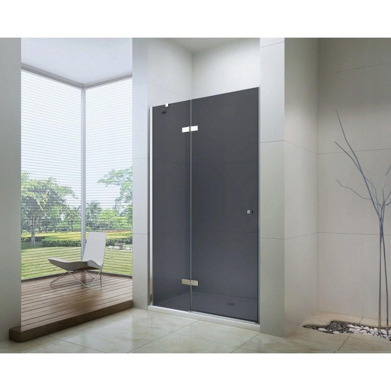 SPRCHOVÉ KOUTY - MEXEN ROMA sprchové dveře 100x190 cm 6mm, chrom-kouřové 854-100-000-01-40