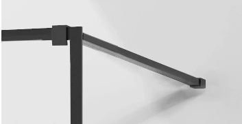SPRCHOVÉ KOUTY - MEXEN sprchová vzpěra pro KIOTO sprchovou stěnu, 150cm, černá 800-01-70