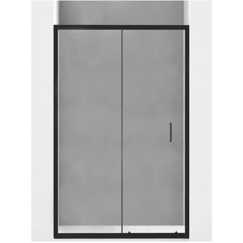 SPRCHOVÉ KOUTY - MEXEN APIA sprchové dveře 100x190 cm 5mm, černá-čiré 845-100-000-70-00