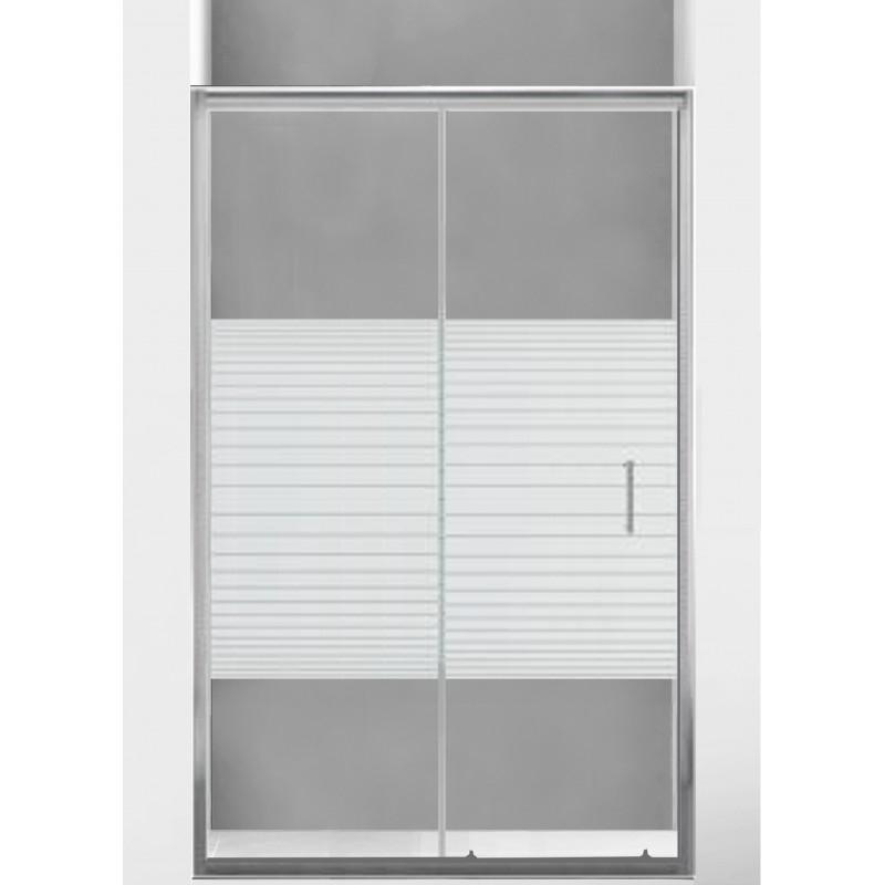 SPRCHOVÉ KOUTY - MEXEN APIA sprchové dveře 100x190 cm 5mm, chrom-pásy 845-100-000-01-20