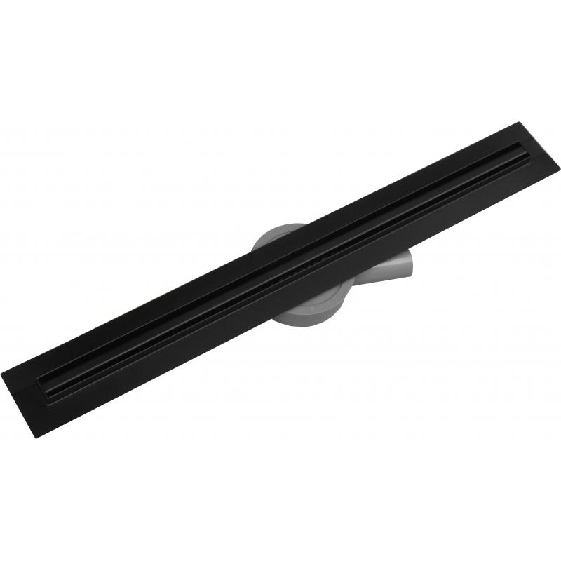 PODLAHOVÉ ŽLABY A ROŠTY - FLAT 360 Black Slim nerezový sprchový žlab 800mm 1741080