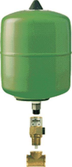 EXPANZOMATY - REFLEX refix průtočný expanzomat DD 8/10 zelený 7308000