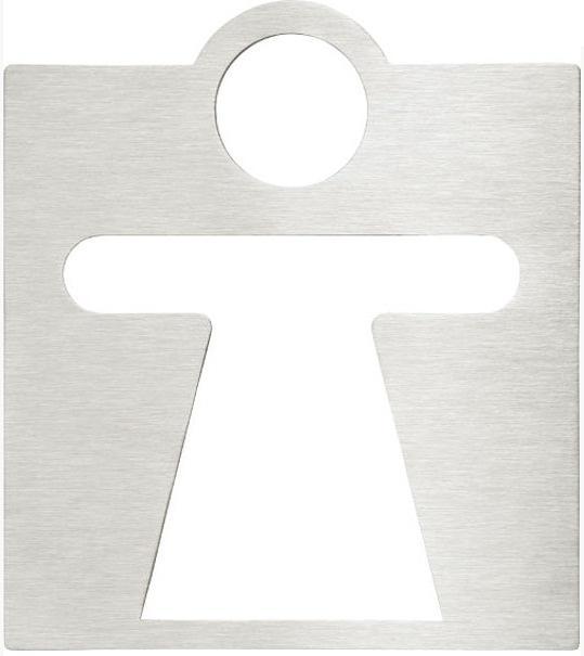 KOUPELNOVÉ DOPLŇKY - Značka na dveře WC dámy 120x120 mm 111022042, nerez lesk