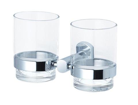 KOUPELNOVÉ DOPLŇKY - OPTIMA Cube Way dvojtý držák skleniček SPI47