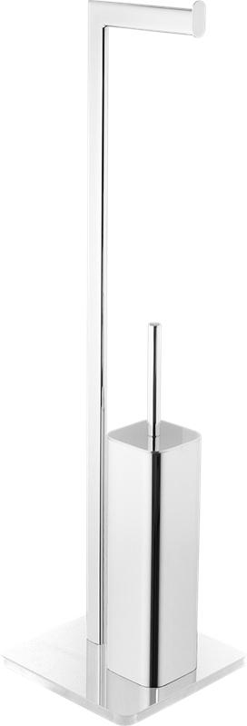 KOUPELNOVÉ DOPLŇKY - OPTIMA GLASDRZSTETB volně stojící držák na toaletní papír a štětky bílý
