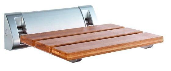 SEDÁTKA DO SPRCHY - Sprchové sedátko AE236 32x32,5cm, sklopné, bambus