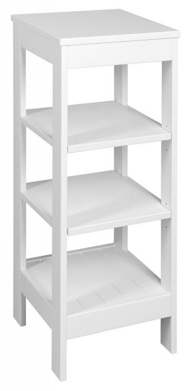 KOUPELNOVÝ NÁBYTEK - ETIDE ET086 policový regál 36x86x36 cm, bílá mat