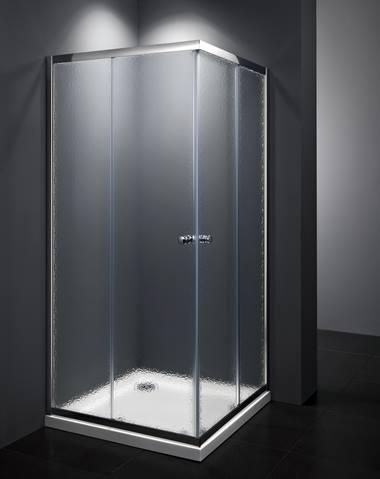 SPRCHOVÉ KOUTY - BASIC sprchový kout čtverec 90x90, chrom, sklo chinchila SIKOMUQ90CRCH