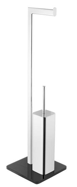 KOUPELNOVÉ DOPLŇKY - OPTIMA GLASDRZSTET volně stojící držák na toaletní papír a štětky