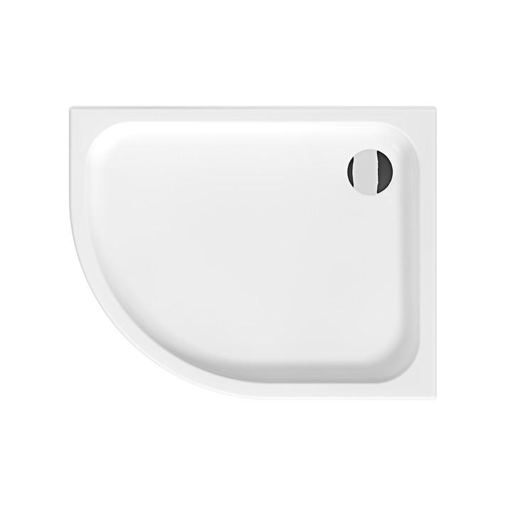 SPRCHOVÉ VANIČKY - JIKA Tigo H8522110000001 Vanička sprchová keramická 100 x 80 cm pravá bílá