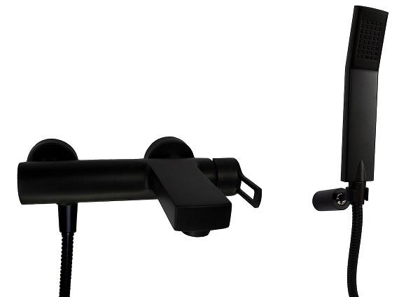 VODOVODNÍ BATERIE - Paffoni RINGO/VALLONE vanová baterie s kompletem RIN023NO černá