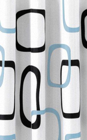 KOUPELNOVÉ DOPLŇKY - Sprchový závěs 180x200cm, polyester, bílá/černá/šedá ZP004
