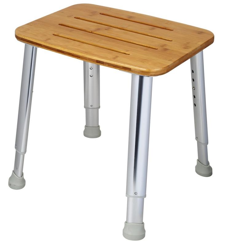 KOUPELNOVÉ DOPLŇKY - ANIMA Sprchová stolička, nosnost 180 kg STOLWOOD