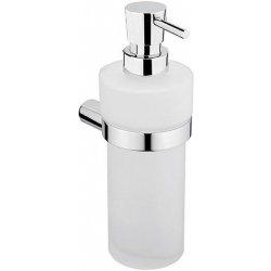 KOUPELNOVÉ DOPLŇKY - NIMCO BORMO New BR 11031W-T-26 dávkovač tekutého mýdla-rosené sklo, pumpička mosaz