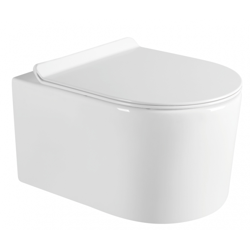 SANITÁRNÍ KERAMIKA - MEXEN SOFIA závěsný klozet Rimless+ WC sedátko Slim SoftClose duroplast, bílá