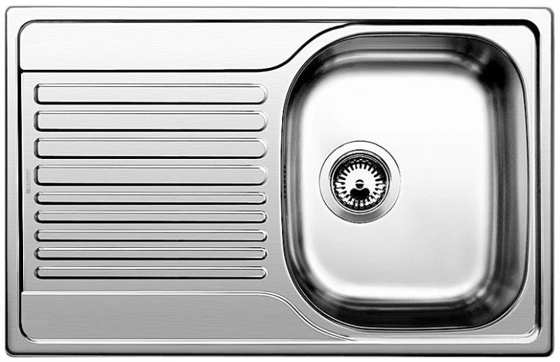 KUCHYŇSKÉ DŘEZY - Blanco TIPO 45 S Compact 513442 dřez s odkapem, oboustranný nerez kartáčovaná, vestavný