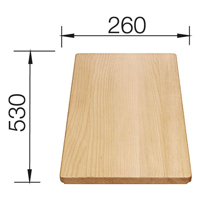 KUCHYŇSKÉ DŘEZY - Blanco univ. krájecí deska dřevěná pro dřezy se šířkou 500 mm bukové dřevo  218313