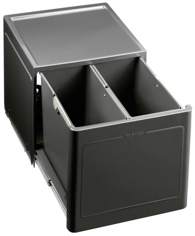 KUCHYŇSKÉ DŘEZY - Blanco BOTTON Pro 45/2 Automatic výsuv otevřením dvířek 517468 košový systém na dvířka