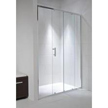 CUBITO PURE 1400/1950 dvojdílné sprch.dveře, stříbrná, sklo Arctic H2.4224.8.002.666.1