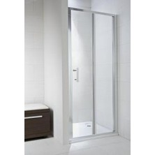CUBITO PURE 800/1950 skládací sprchové dveře,stříbrné,sklo Transparent H2.5524.1.002.668.1