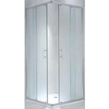 CUBITO PURE 800/1950 sprchový kout čtverec, stříbrná, sklo Transparent H2.5124.1.002.668.1