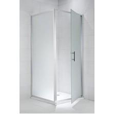 CUBITO PURE 900/1950 pevná stěna, stříbrná, sklo Transparent H2.9724.2.002.668.1