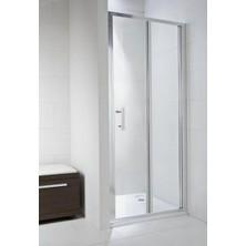 CUBITO PURE 900/1950 skládací sprchové dveře,stříbrná,sklo Transparent H2.5524.2.002.668.1