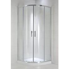 CUBITO PURE 900/1950 sprchový kout 1/4 , stříbrná, sklo Transparent H2.5324.2.002.668.1