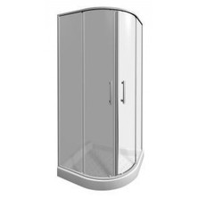 JIKA LYRA PLUS 800/1900 sprchový kout 1/4, bílý, sklo Stripy H2.5338.1.000.665.1