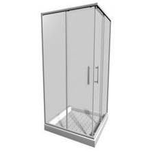 JIKA LYRA PLUS 900/1900 sprchový kout čtverec, bílý, sklo Stripy H2.5138.2.000.665.1