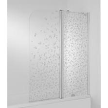 Vanová zástěna CUBITO 140x115, pravá, 2díl, transparent. sklo, H2.5742.6.002.668.1